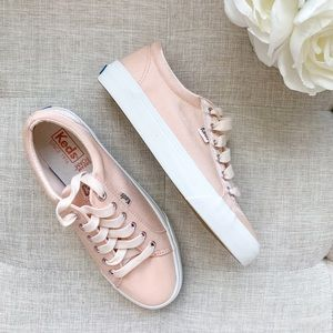 Keds • Jump Kick Metallic Shantung Rose Sneakers